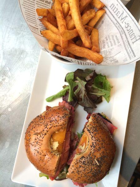 Restaurant Harper's bagel pastrami 75017