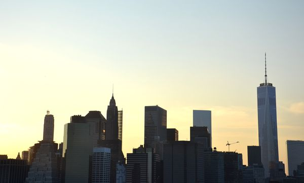 Brooklyn bridge sunset NYC