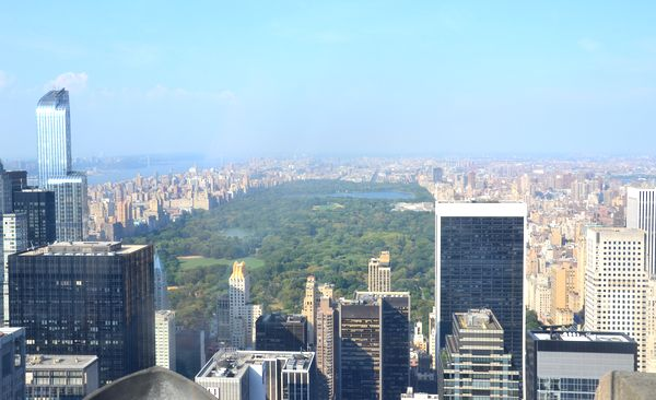 Top of the rock Central park NYC