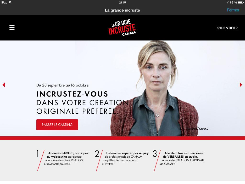 La grande Incruste Canal +