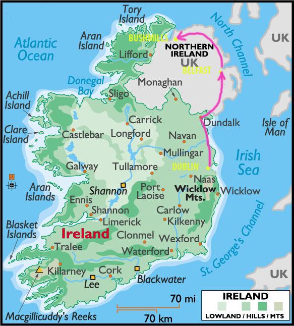 Irlande-carte-road trip-voyage