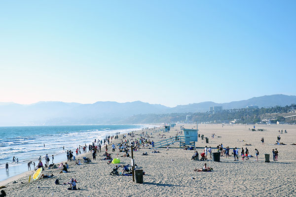 Los Angeles, plage, Malibu, Californie